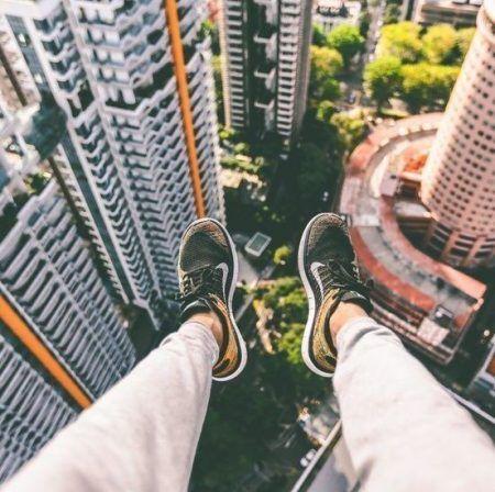 Zapatillas aerial view