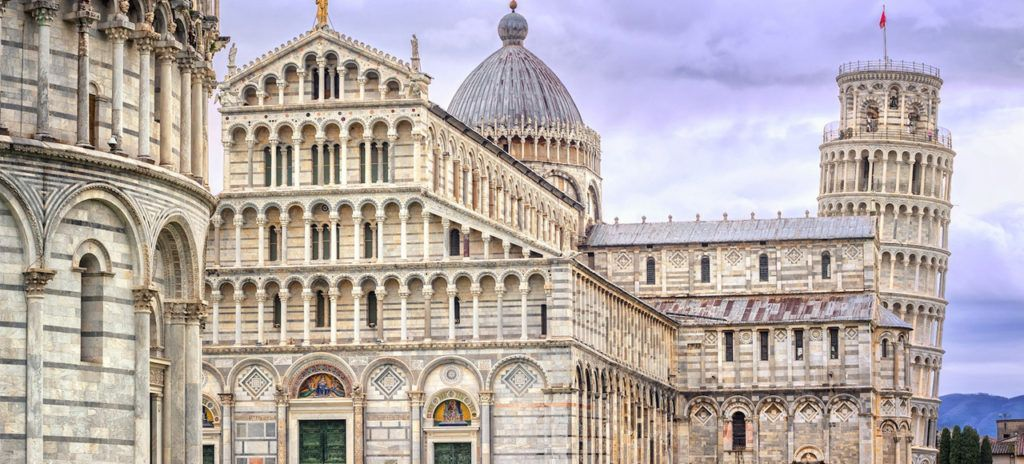 Foto de la iglesia y torre de Pisa
