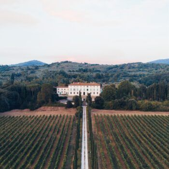 Foto de campos de viñedos la Toscana