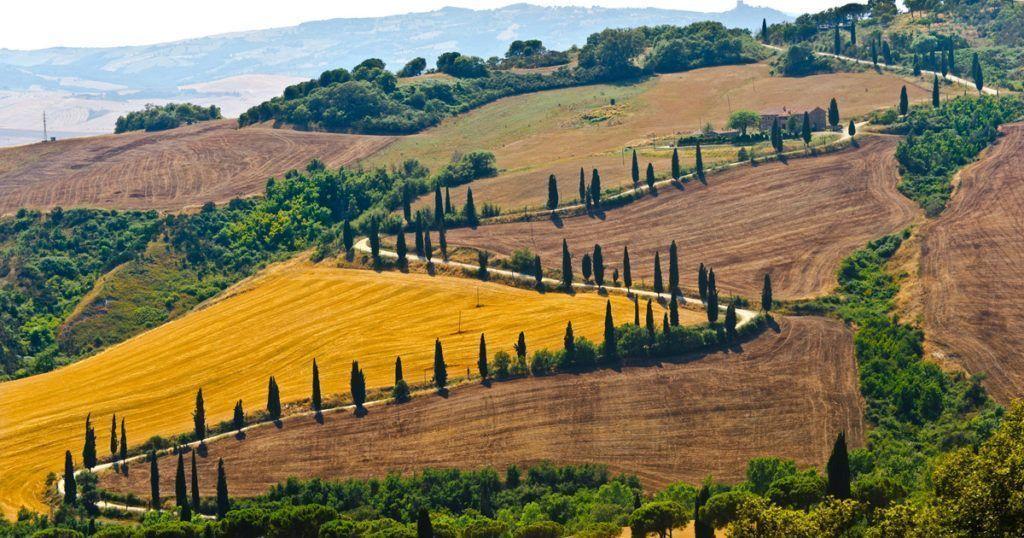 Foto de los campos de la Toscana
