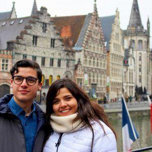 Foto pareja en Belgica Gante