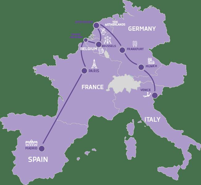 map Europe wonderland
