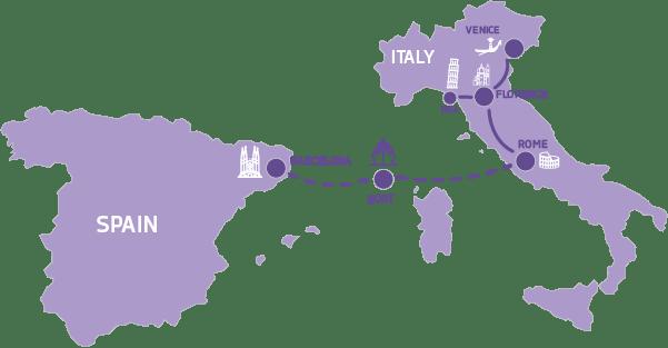 mapa ciao italia
