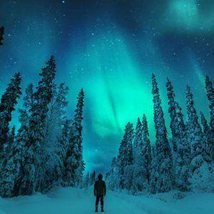 Auroras boreales en Finlandia
