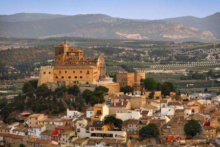 Foto de Caravaca de la Cruz Vista panorámica con el Santuario de la Sa
