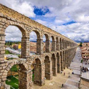 Foto del acueducto de Segovia