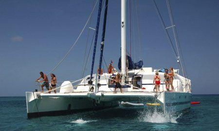 Foto en catamaran