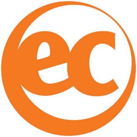 Logo de EC color naranja