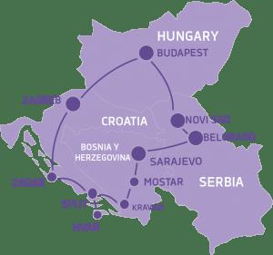map Balkans Grand Tour