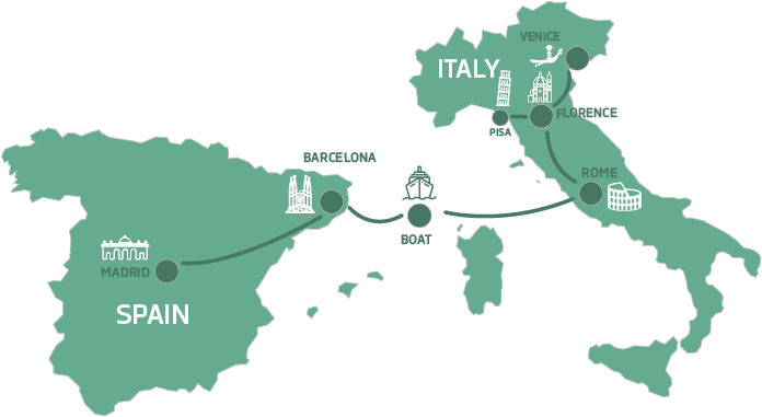 map-classic-italy