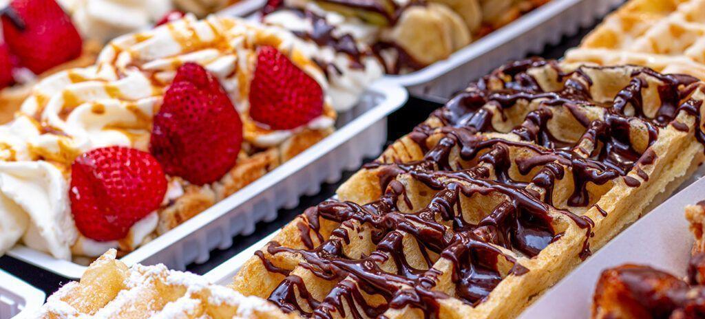 Comida típica Bélgica Waffles