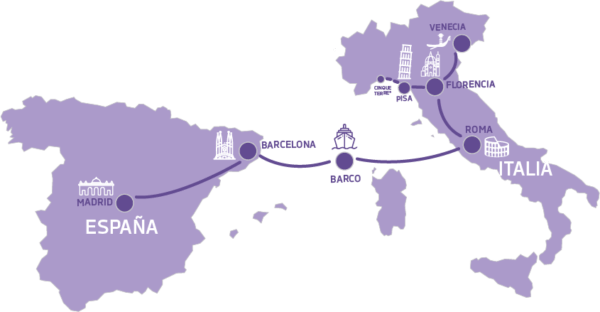Mapa Bella Italia