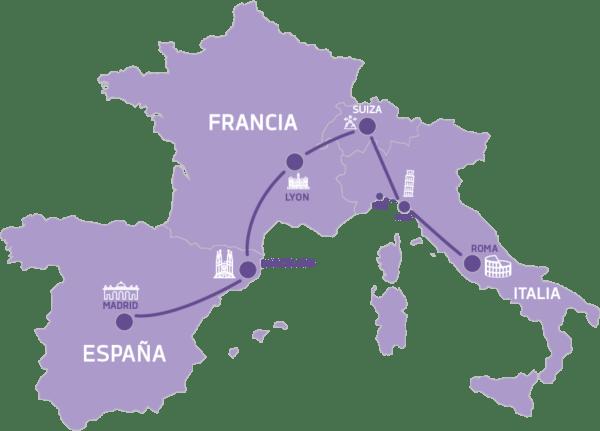De Madrid a Roma