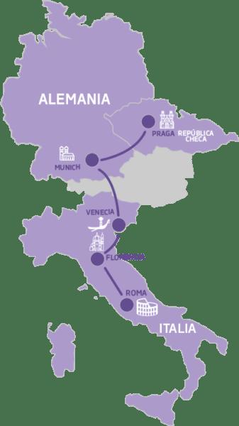 Mapa Navidad en Europa