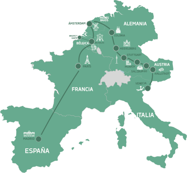 Mapa Oktober Tour