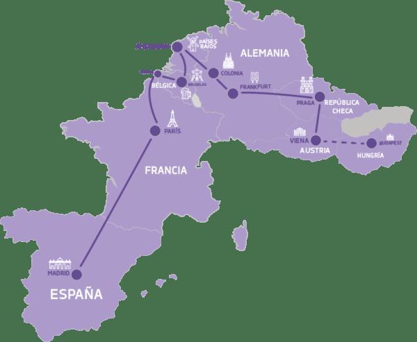 Mapa Perlas de Europa
