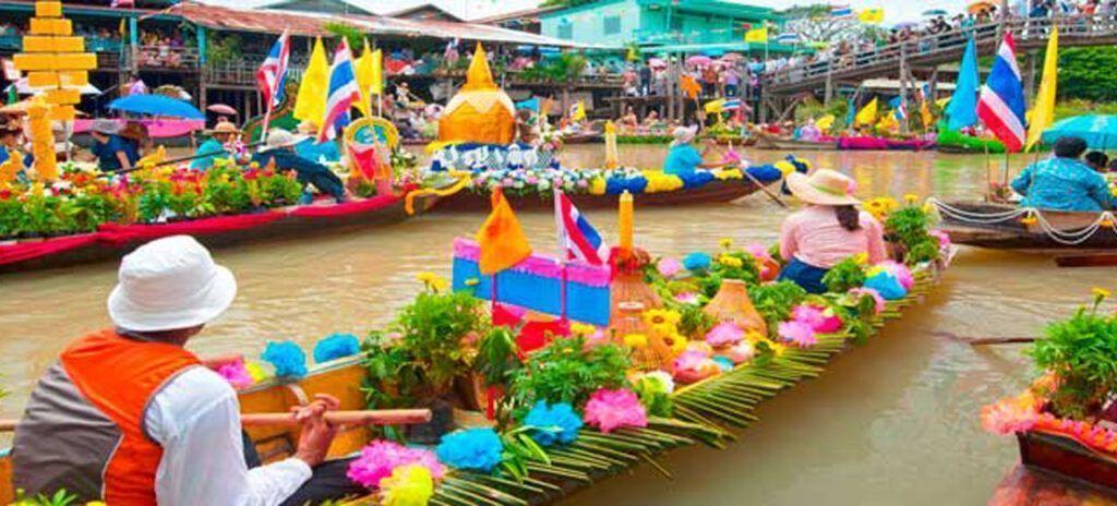 viaje a Tailandia mercado flotante Damnoen Saduak
