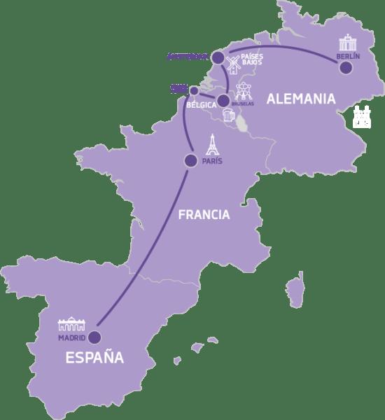 Mapa Tour de las Tentaciones