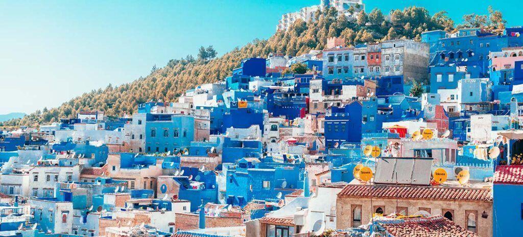 chefchaouen pueblo azul España portugal y marruecos