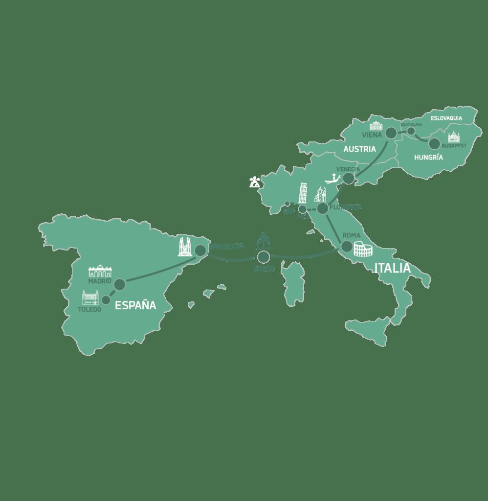 Mapa Clasicos de Europa