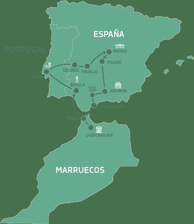 España portugal y marruecos