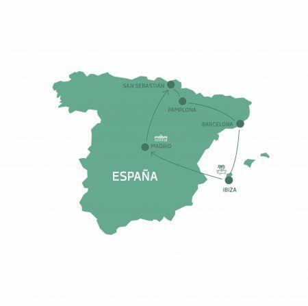 Mapa Verano de Fiesta en ESpaña