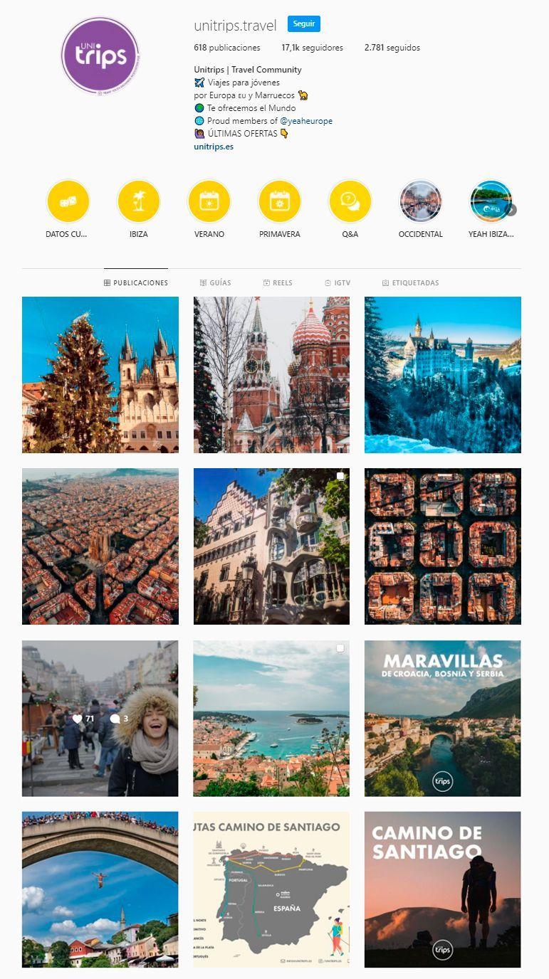 Síguenos en nuestra cuenta de Instagram unitrips.travel