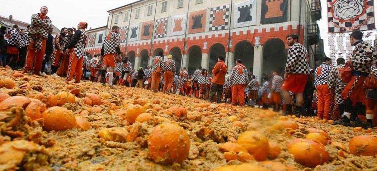 Mejores fiestas de Europa Batalla Naranjas Ivrea