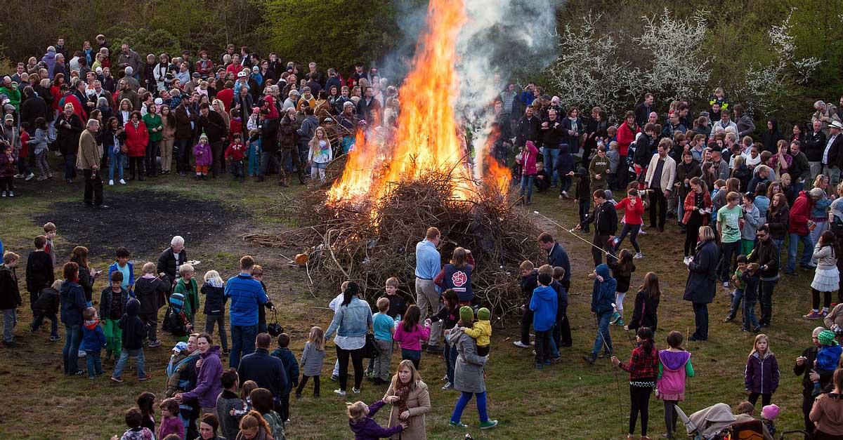 Fiesta de quema de brujas Walpurgis