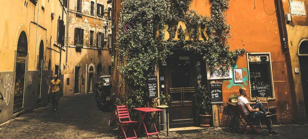 Italia Roma Barrio Trastevere