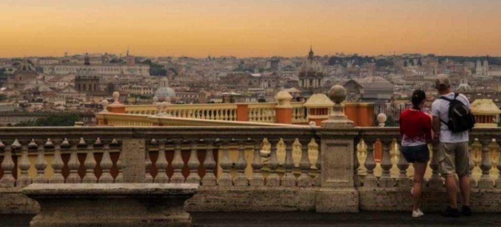 Italia Roma lugares Romanticos Giancolo