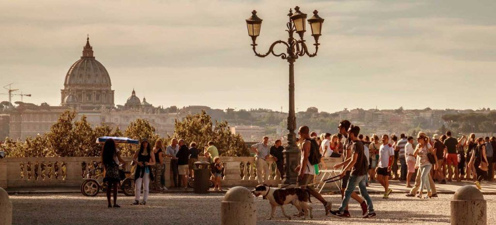 Que ver en Roma Italia Terraza del Pincio