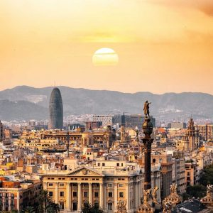 Viaje Madrid Barcelona Atardecer