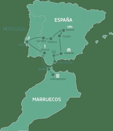 España, Marruecos y Portugal