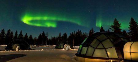 Finlandia Aurora Boreal Iglú de Cristal