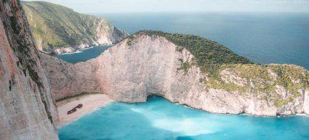 Grecia Zakynthos Barco Abandonado