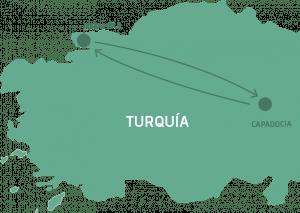 Mapa Estambul y Capadocia Legendaria
